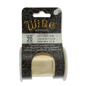 BeadSmith Wire Elements Gold 20 gauge