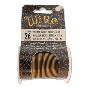 BeadSmith Wire Elements Vintage Bronze 26 ga
