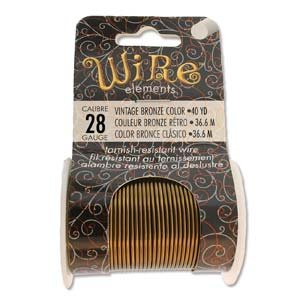 BeadSmith Wire Elements Vintage Bronze 28 ga