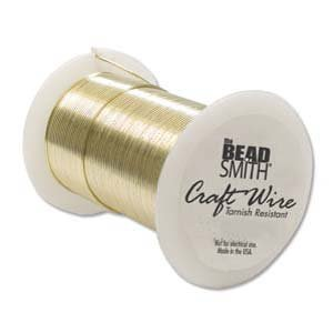 BeadSmith Wire 22 ga Gold Tarnish Resistant