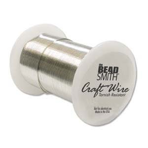 BeadSmith Wire 22 ga Silver Tarnish Resistant