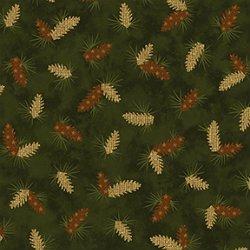 Parchment Pine Cones Green