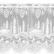 HERITAGE LACE PINECONE VALANCE-WHITE