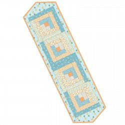 MAS Pods Log Cabin Table Runner MAS01-ANQ