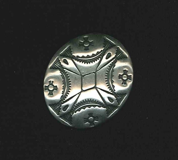 Durango Nickel Silver Oval Concho Button