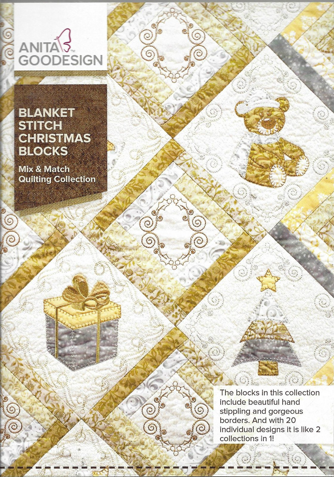 AG BLANKET STITCH CHRISTMAS BLOCKS 174AGHD