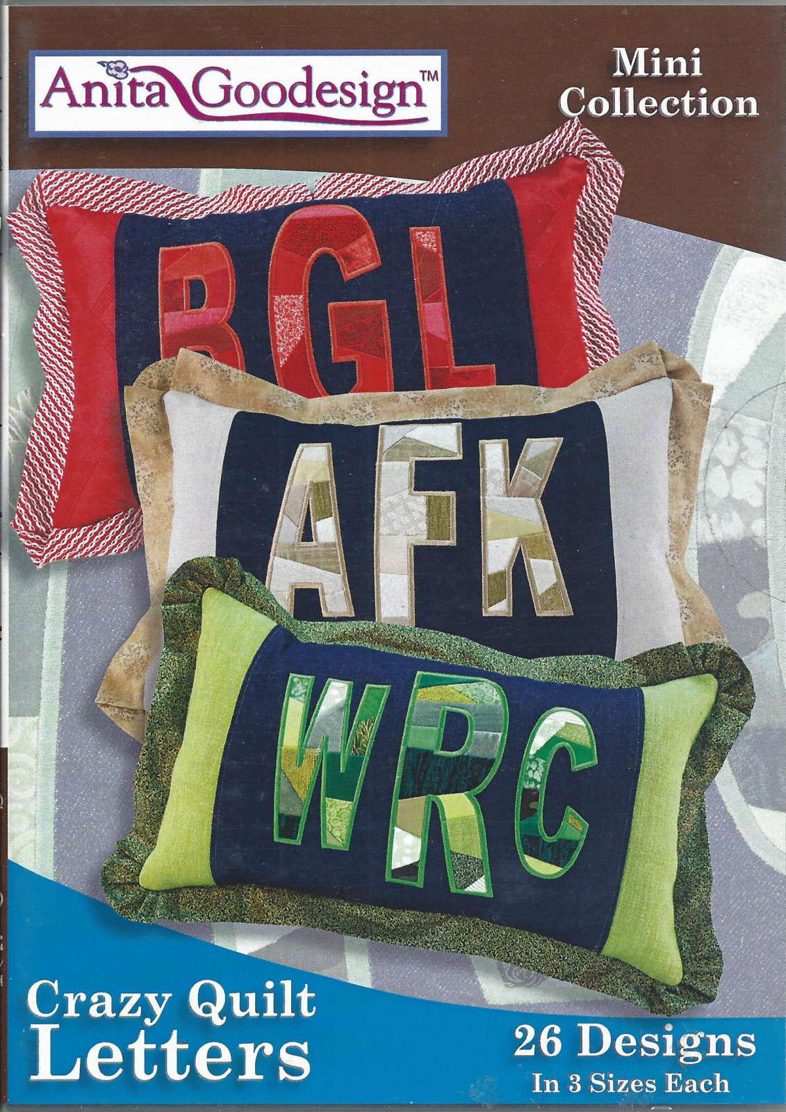 AG CRAZY QUILT LETTERS 158MAGHD