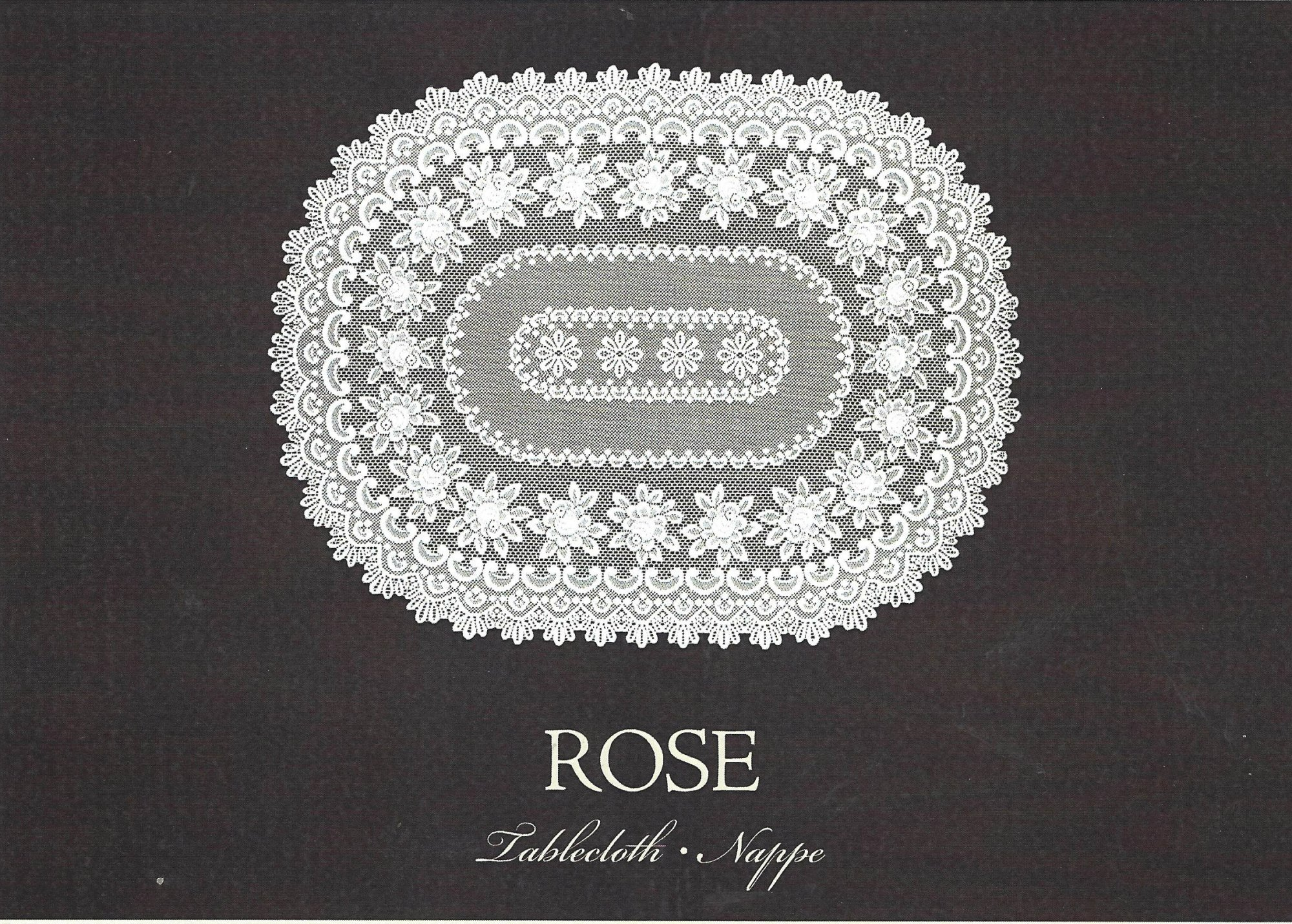 HERITAGE LACE ROSE TABLECLOTH