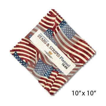 NC Stonehenge Stars Stripes Flannel Tiles
