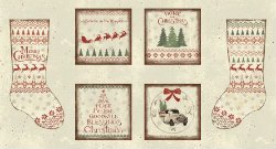 PANEL #664 CL Y2430-11 HOME FOR CHRISTMAS