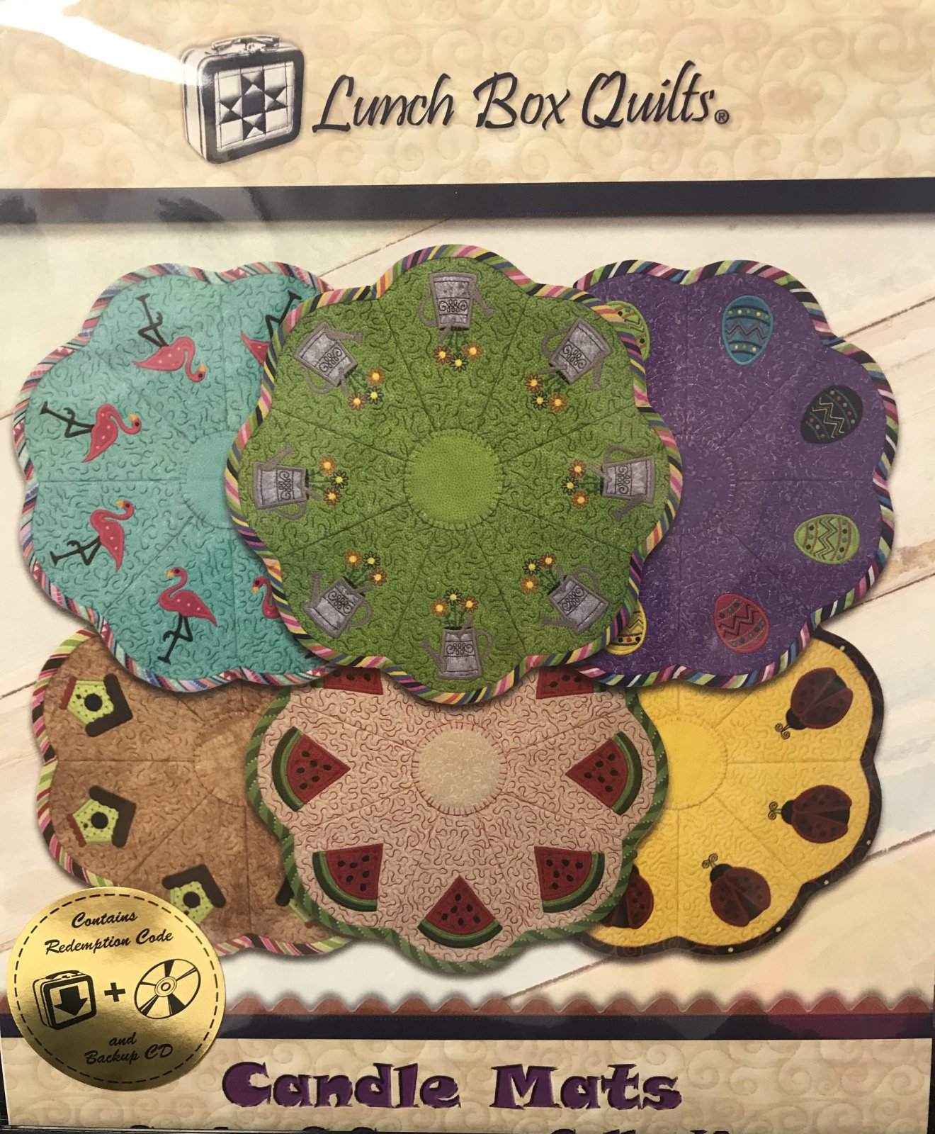 Candle Mats - Spring & Summer Collection by Lunch Box Quilts