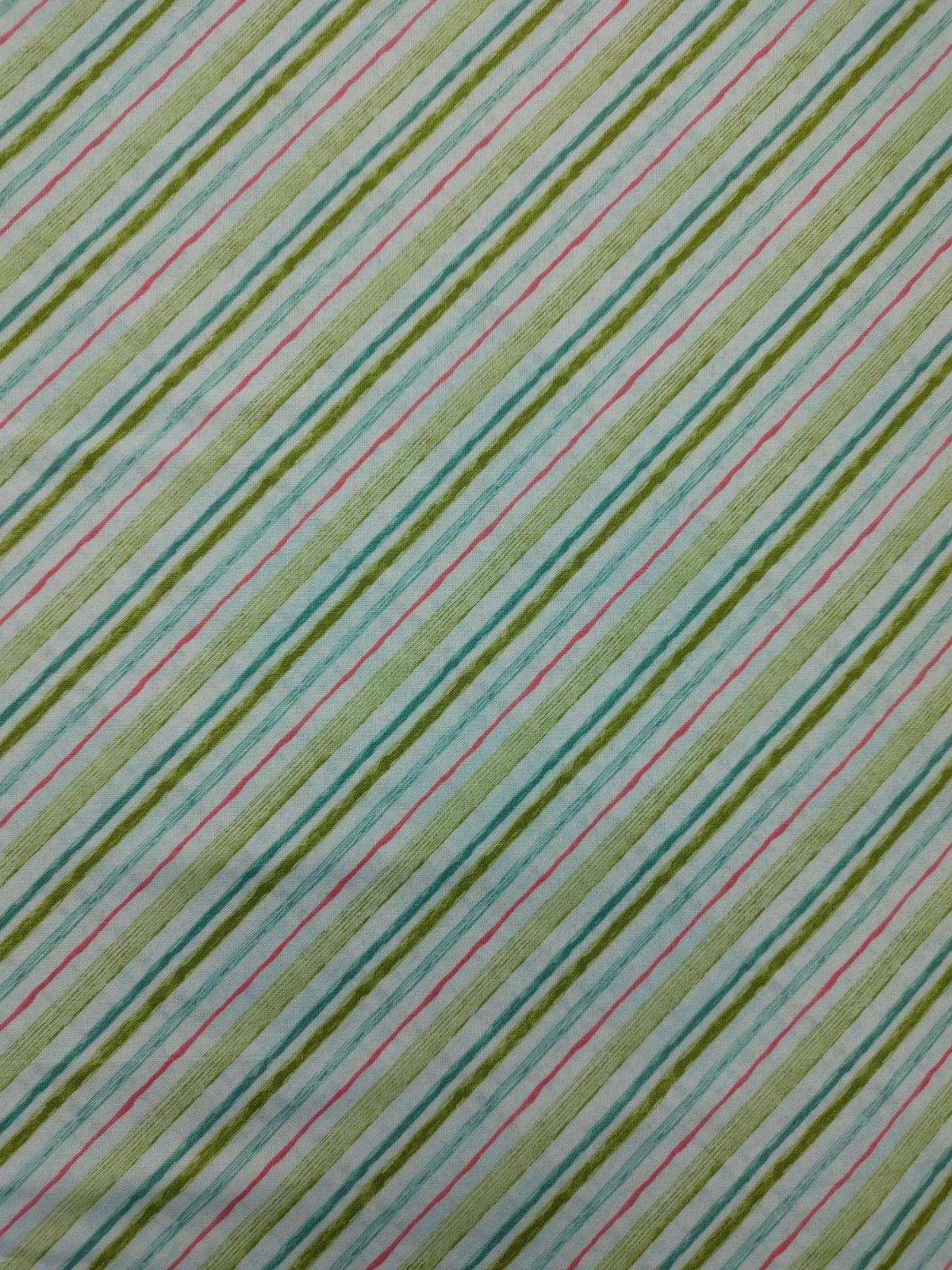Pink Garden - Bias Stripe