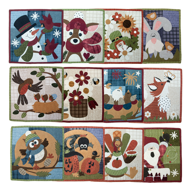 Calendar Wall Hanging Kit of the Month - Month 1