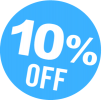 10% ten percent off