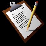 Clipboard registration forms