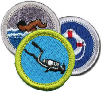 Aquatic merit badges