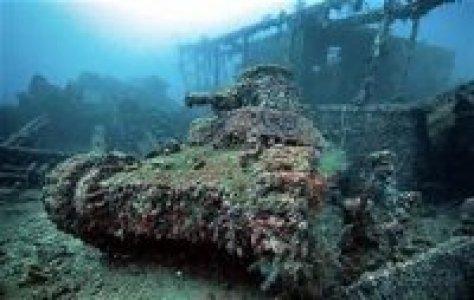 Sunken Tank in Truk