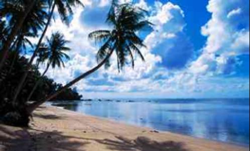Beach views in Yap