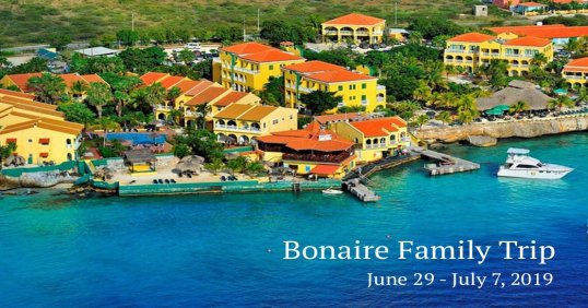 Bonaire Family Friendly Trip 2019