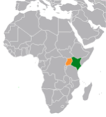 Kenya and Uganda Map