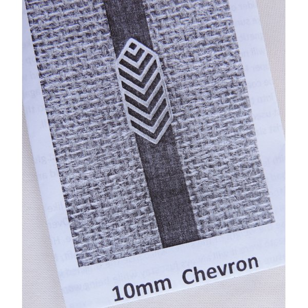 Chevron Bracelet Kit, 10mm leather