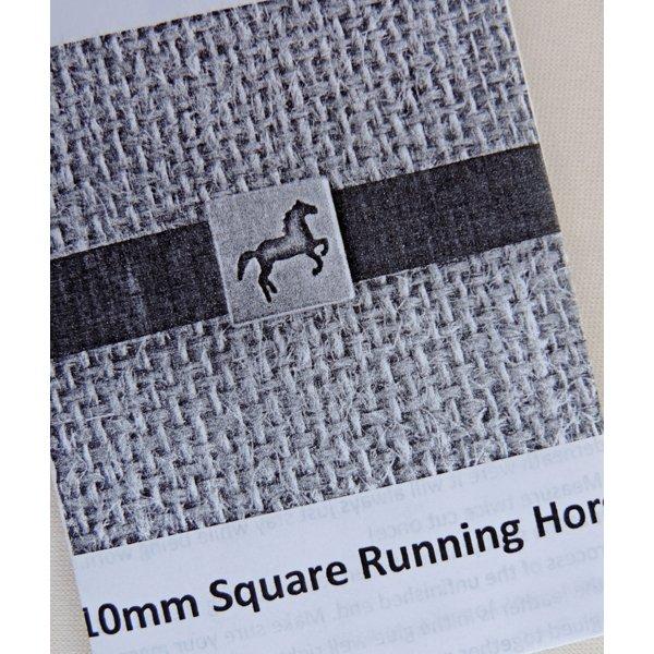 Square Running Horse Bracelet Kit, 10mm leather