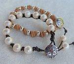 leather knotting bracelets