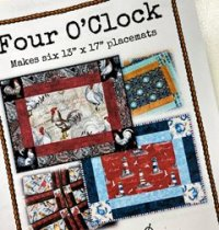 four o-clock placemat pattern
