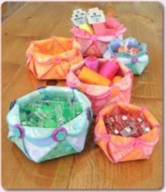 woven hexi flower bowls