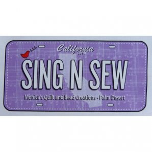 Sing N Sew Fabric License Plate