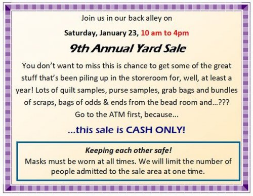 annual yard sale