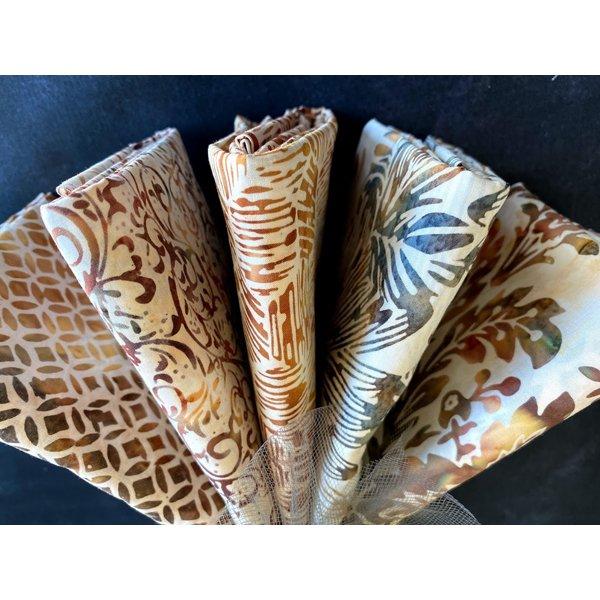 Batik Bundle #18: 5 one-yard cuts