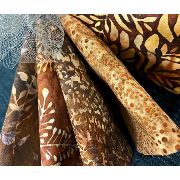 Batik Bundle #1: 5 one-yard cuts
