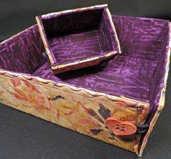 buttoned box