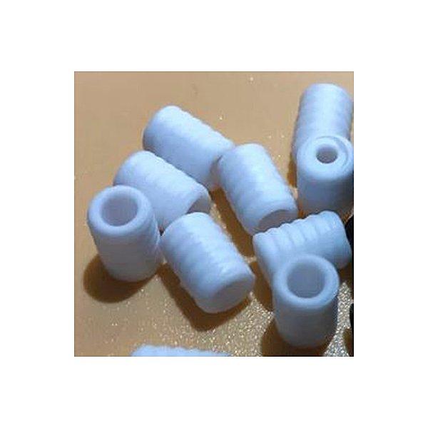 Cord Locks for elastic, White