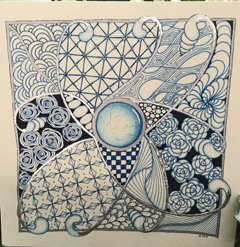 Opus Blue Zentangle with Deborah Pace