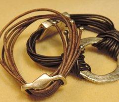 multi-strand leather