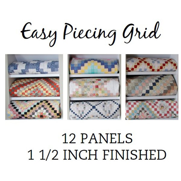 Easy Piecing Grid, 12 panels, 1.5 finished
