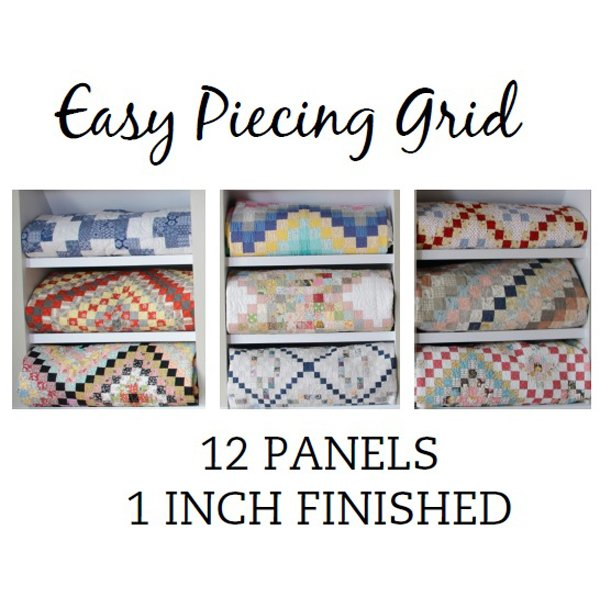 Easy Piecing Grid, 12 panels, 1 finished