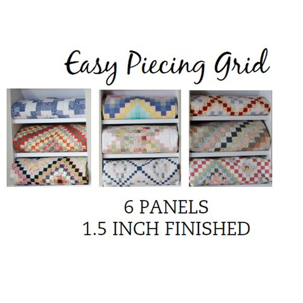 Easy Piecing Grid, 6 panels, 1.5 finished