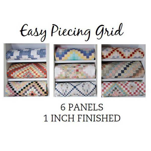 Easy Piecing Grid, 6 panels, 1 finished