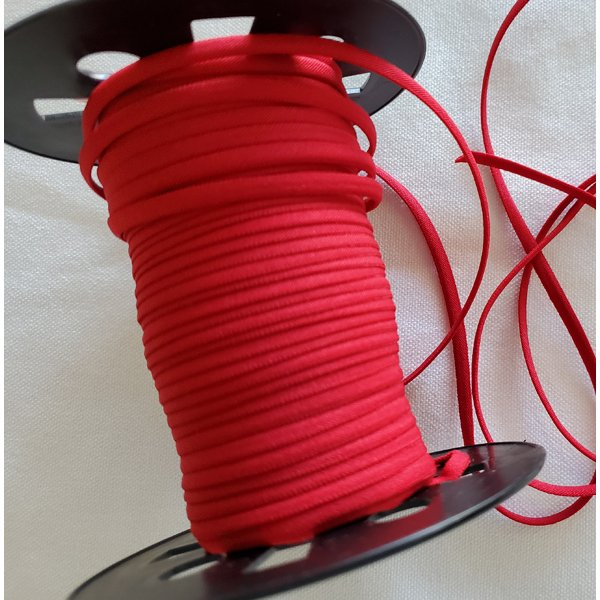 1/6 Banded Elastic, 5 yds., Fire Engine Red
