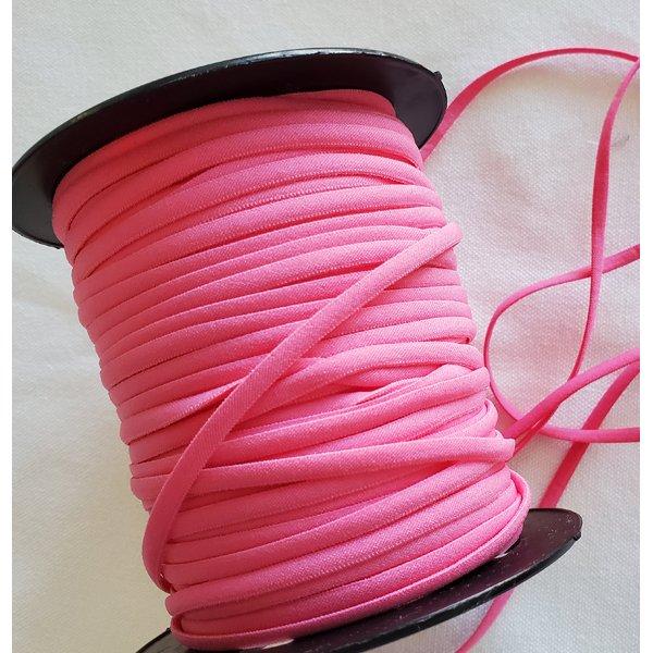 1/6 Banded Elastic, 5 yds., Hot Pink