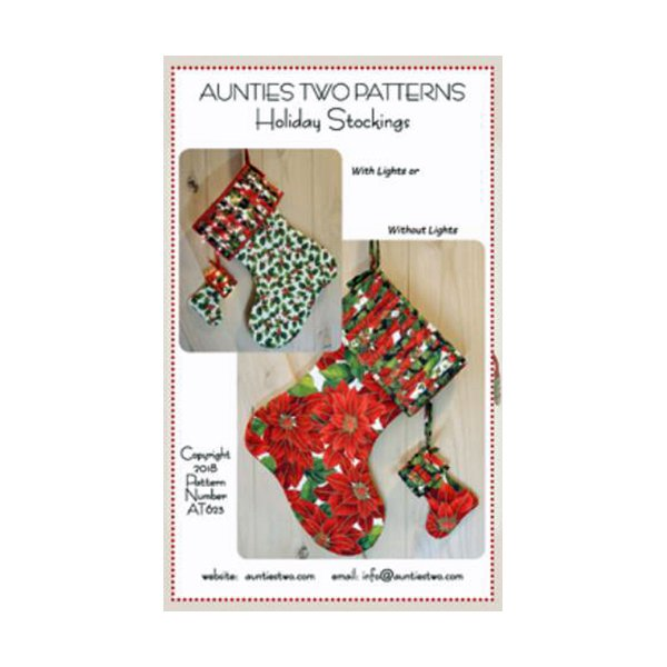 Aunties Two Holiday Stockings Pattern