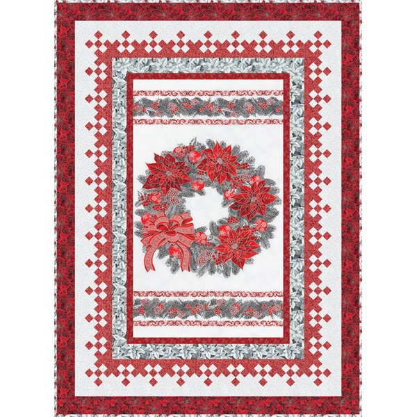 Holiday Bliss quilt kit, silver colorstory
