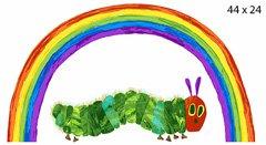 hungry caterpillar rainbow panel