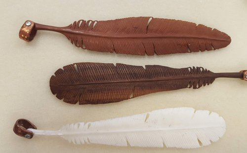 wood and bone feathers