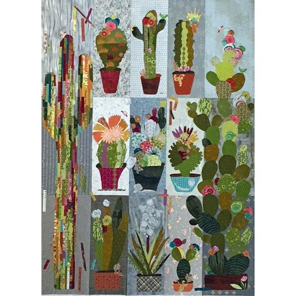 Laura Heine: Collage Cactus pattern