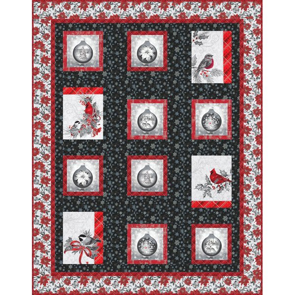 Ornamental Birds quilt kit