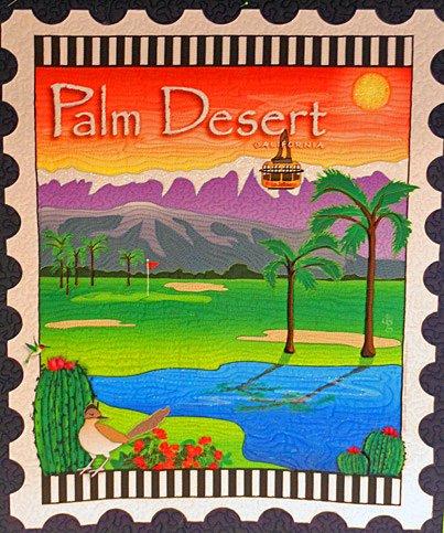 Palm Desert Mini Postage Stamp Panel